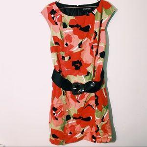 Lane Bryant floral belted dress size 18